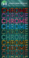10 Colorful Chrome Text Styles