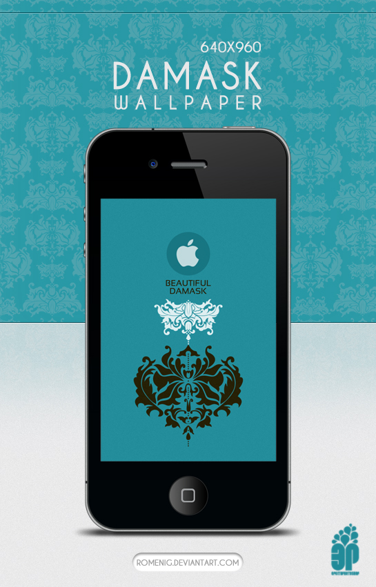 IPhone Damask Wallpaper by Romenig