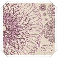 Symmetry Flowers Brush Set by Romenig