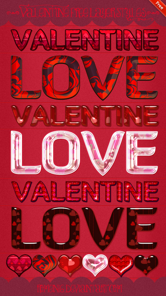 Beautiful Valentine Styles by Romenig