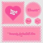 Lace Elements Photoshop Brushes
