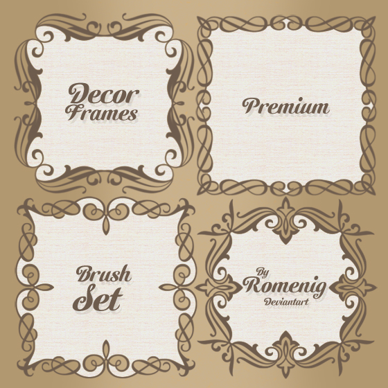 Vintage Decor Frames Brush Set by Romenig on DeviantArt