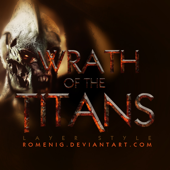 Wrath of the Titans Layer Style by Romenig