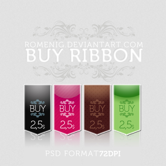 Free Ribbons PSD Format by Romenig