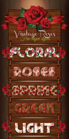 Vintage Roses Layer Styles by Romenig