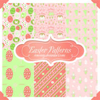 Cute Easter Seamless Patterns by Romenig