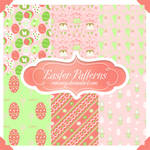 Cute Easter Seamless Patterns