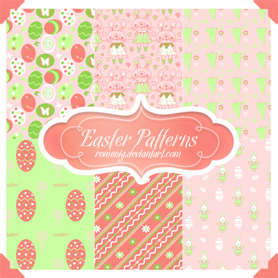 Cute Easter Seamless Patterns by Romenig on DeviantArt