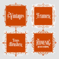 4 Free Vintage Frames Brushes by Romenig