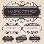 Floral Banners Brush Set