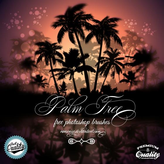 Palm Tree Free Photoshop Brushes by Romenig