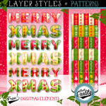 FREE CHRISTMAS ELEMENTS, STYLES AND PATTERNS