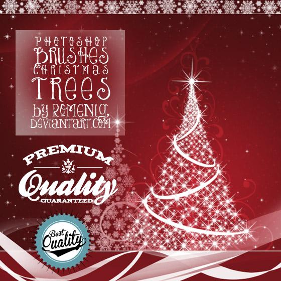 FREE CHRISTMAS TREES PHOTOSHOP BRUSHES