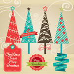 CHRISTMAS TREES FREE BRUSH SET