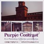 Purple Contrast Free Photoshop Action