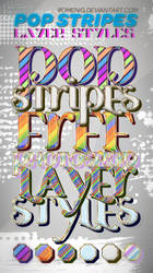 Cool Pop Stripes Free Layer Styles by Romenig