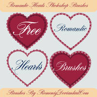 Romantic Hearts Free Brushes