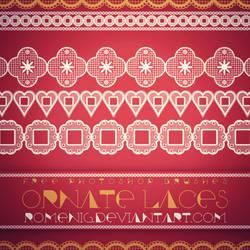 Laces Free Photoshop Brushes by Romenig