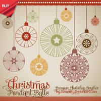 Vintage Christmas Balls Premium Brushes