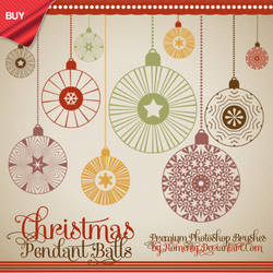 Vintage Christmas Balls Premium Brushes