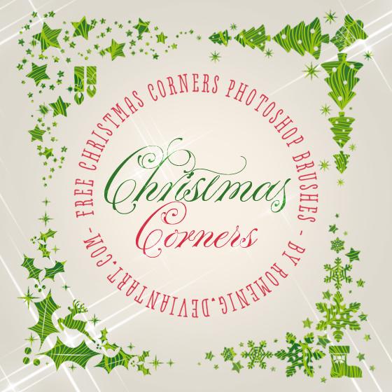 Christmas Corners Brushes by Romenig