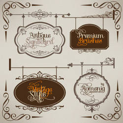 Antique Signboard Premium Brushes