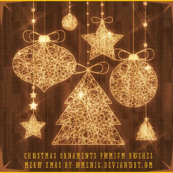 Christmas Ornaments Premium Brushes by Romenig