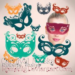 Carnival Masks Premium Brushes