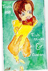 Doctor Who Fish Sticks (Fingers) with Custard by Limalein