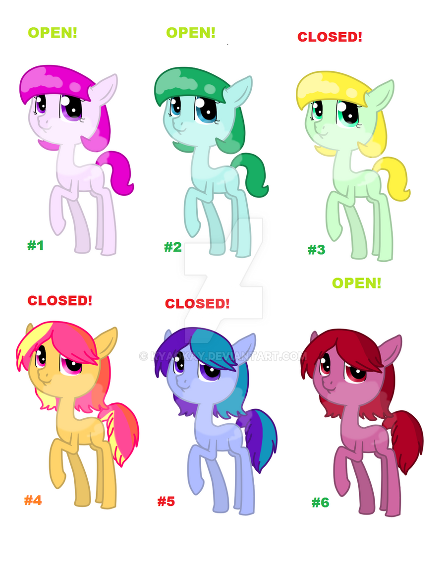 Simple adopts 5 points (#2 and #6 open) by Reporter-Derpy