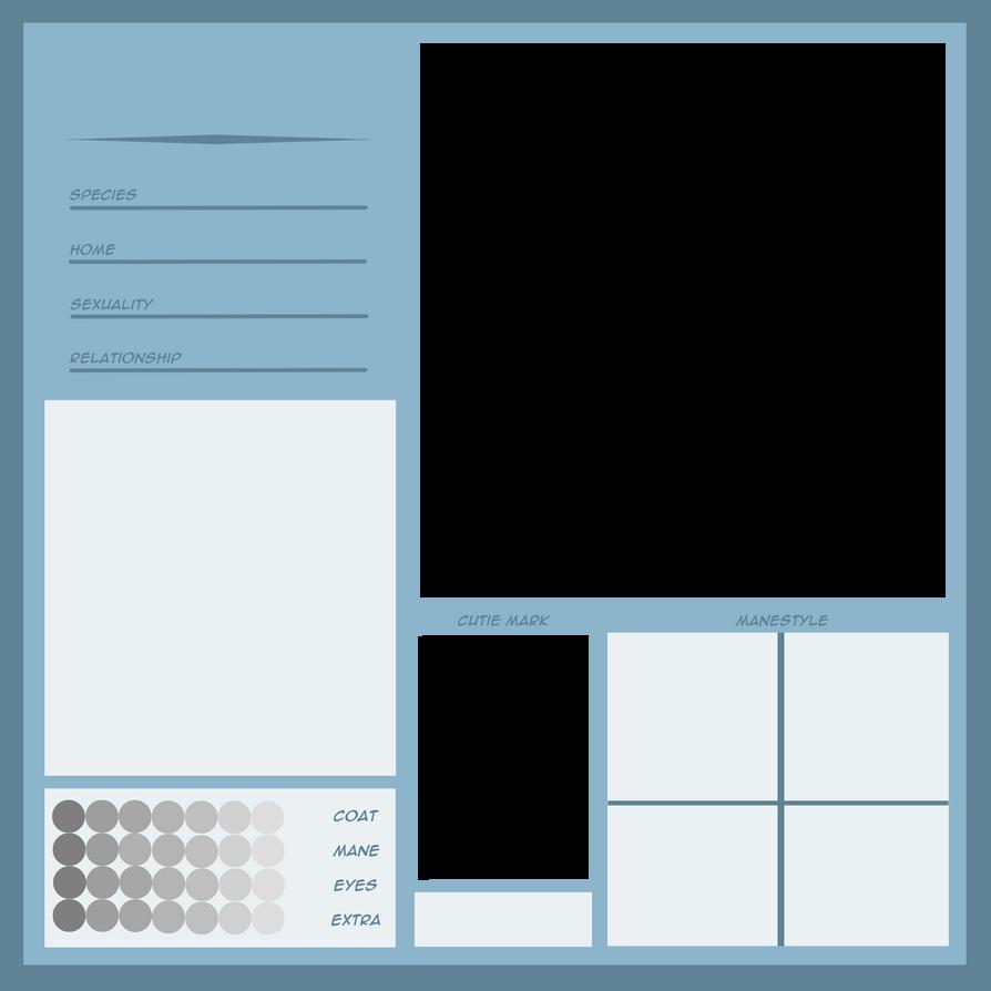 Character Design Template Deviantart : Character sheet template by kyaokay on deviantart