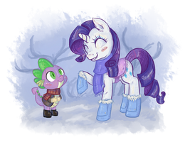 Two friends in the snow by KYAokay