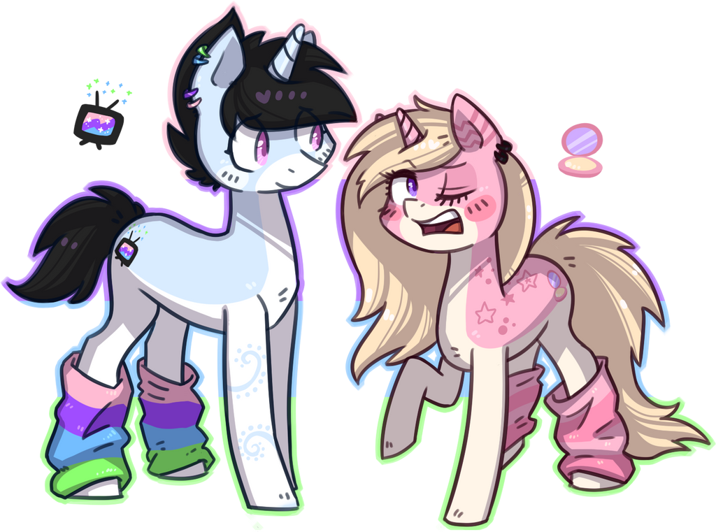 Satellite Star and Glitter Galaxy by Keep-Yourself-Alive