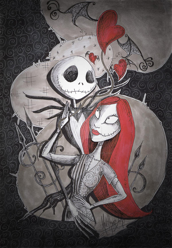 Jack And Sally In Love By Madmoisellemeli On Deviantart