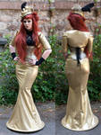 Golden victorian touched Dress