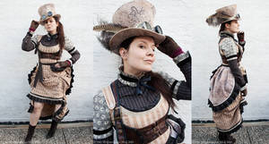 New Steampunk female MADhatter Costum
