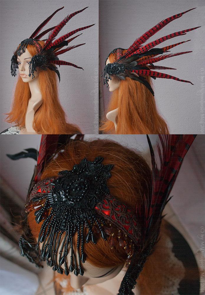 Shaman Tribaldance Walkyrie Headpiece by MADmoiselleMeli