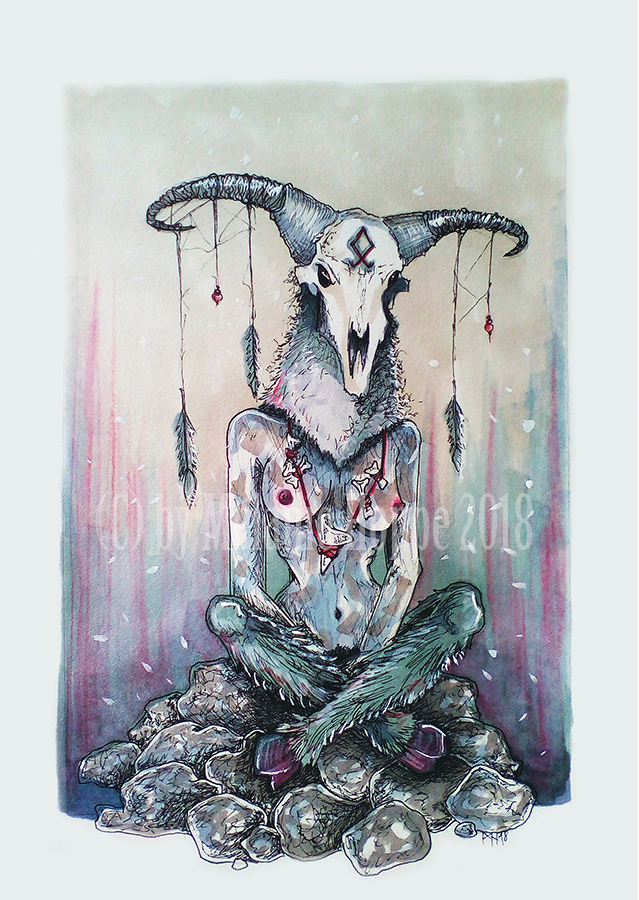 Pagan Baphomet by MADmoiselleMeli