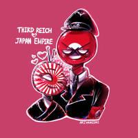 Countryhumans: Third Reich x Japan Empire by Ariyamidai