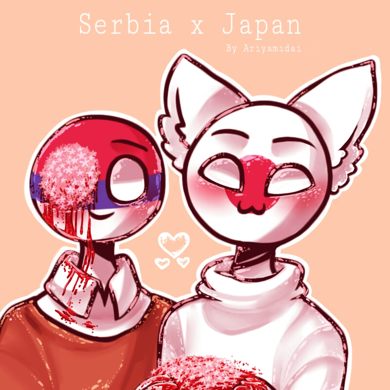 Countryhumans Serbia X Japan By Ariyamidai On Deviantart-1401