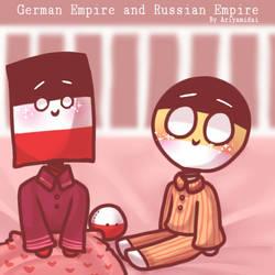 Countryhumans: GermanEmpire and RussianEmpire ~ by Ariyamidai