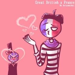 Countryhumans : Great British x France ~ by Ariyamidai