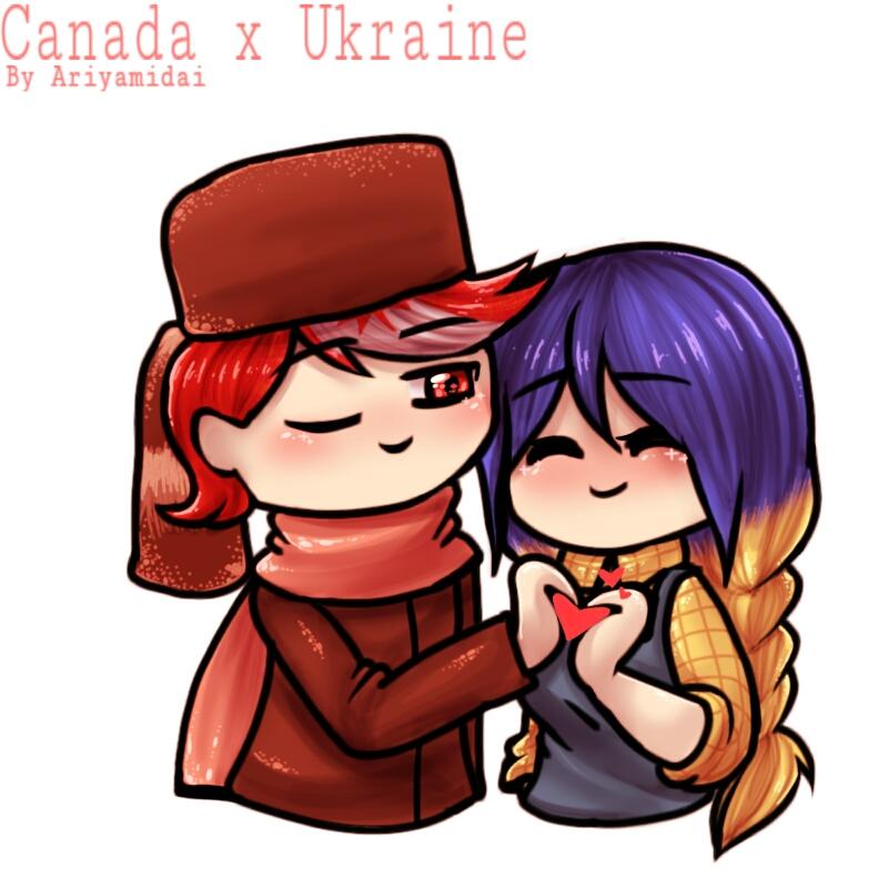 Countryhumans : Canada and Ukraine ~ by Ariyamidai on ...