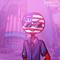 Countryhumans: America by Ariyamidai