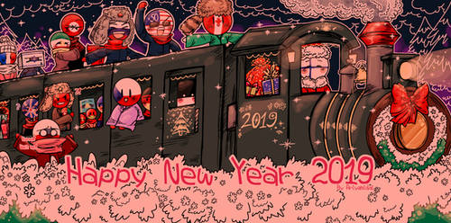 Countryhumans: Happy New Year 2019 ~