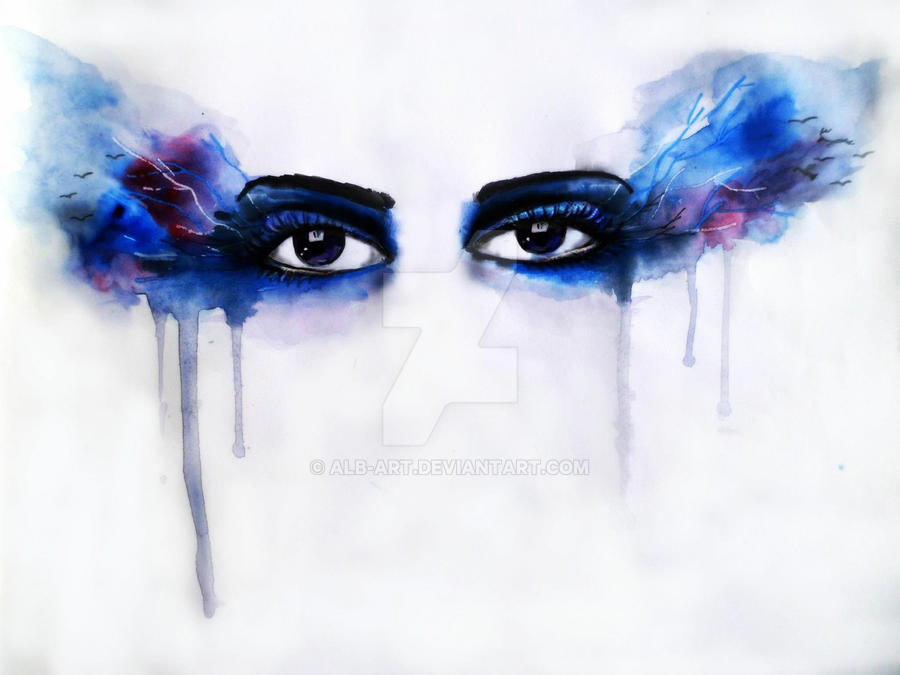 Quick Water Color Painting Of Eyes by Alb-art on DeviantArt