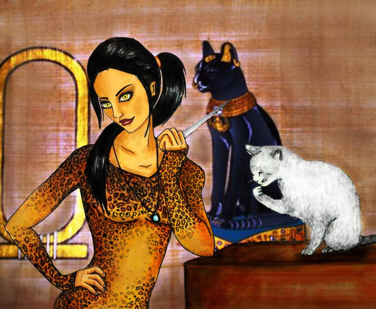 Pimpandhost cat godess'