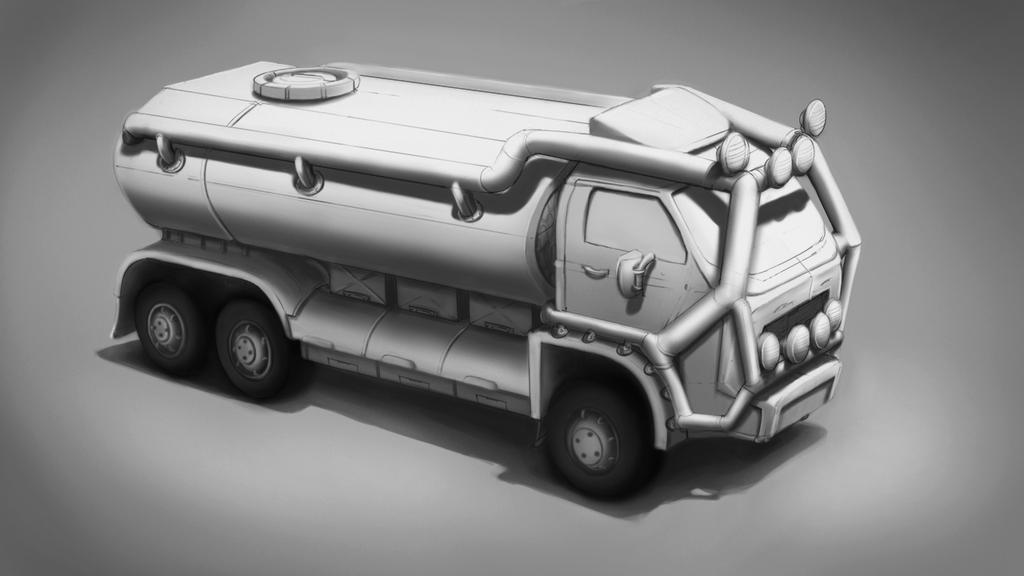 CtrlPaint Basic Rendering 2 - Truck assignment by LucasConegundes
