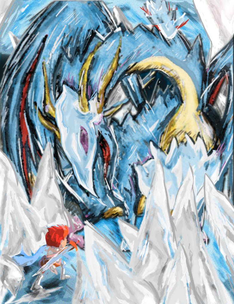 Ys: Adol Battles Gildias by lunartakiro