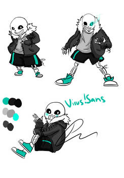 Virus!Sans - Undertale AU by Jeyawue